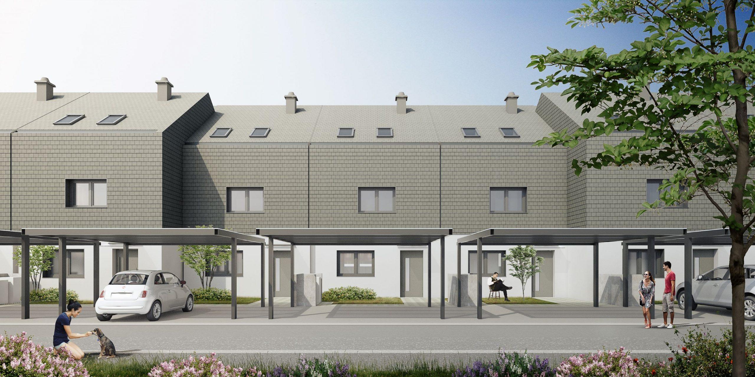 Nova soseska vrstnih hiš Med javorji v Kašlju